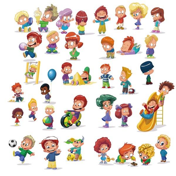 600x600 Children Playing Cartoon Vector Material My Free Photoshop World