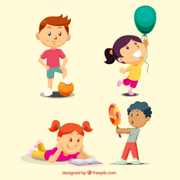 626x626 Children Playing Collection Vector Free Download