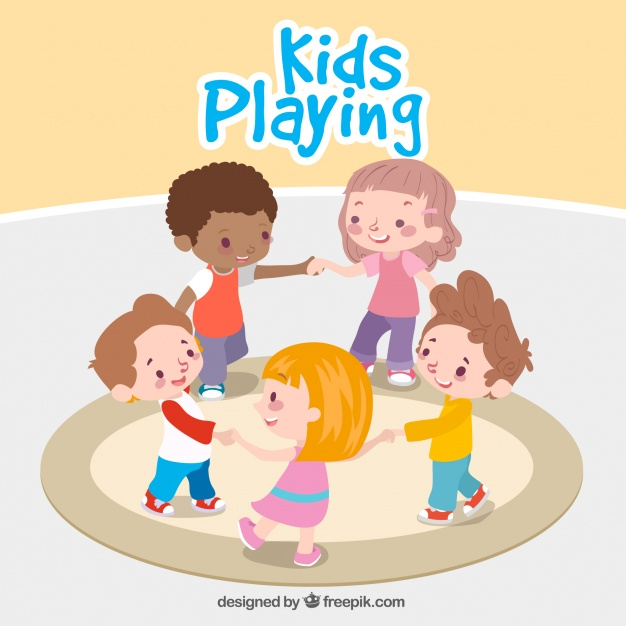 626x626 Fantastic Background Of Children Playing Together Vector Free