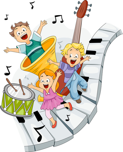 485x600 Playing Children Cartoon Vector Set Free Vector In Encapsulated