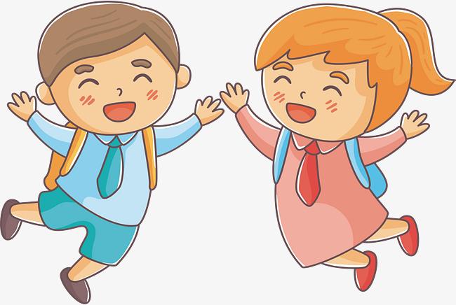 650x436 Happy Cheering Children!, Vector Png, Two Children, The Cheering