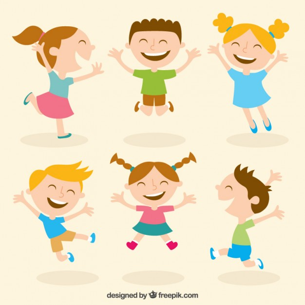 626x626 Happy Kids Illustration Vector Free Download