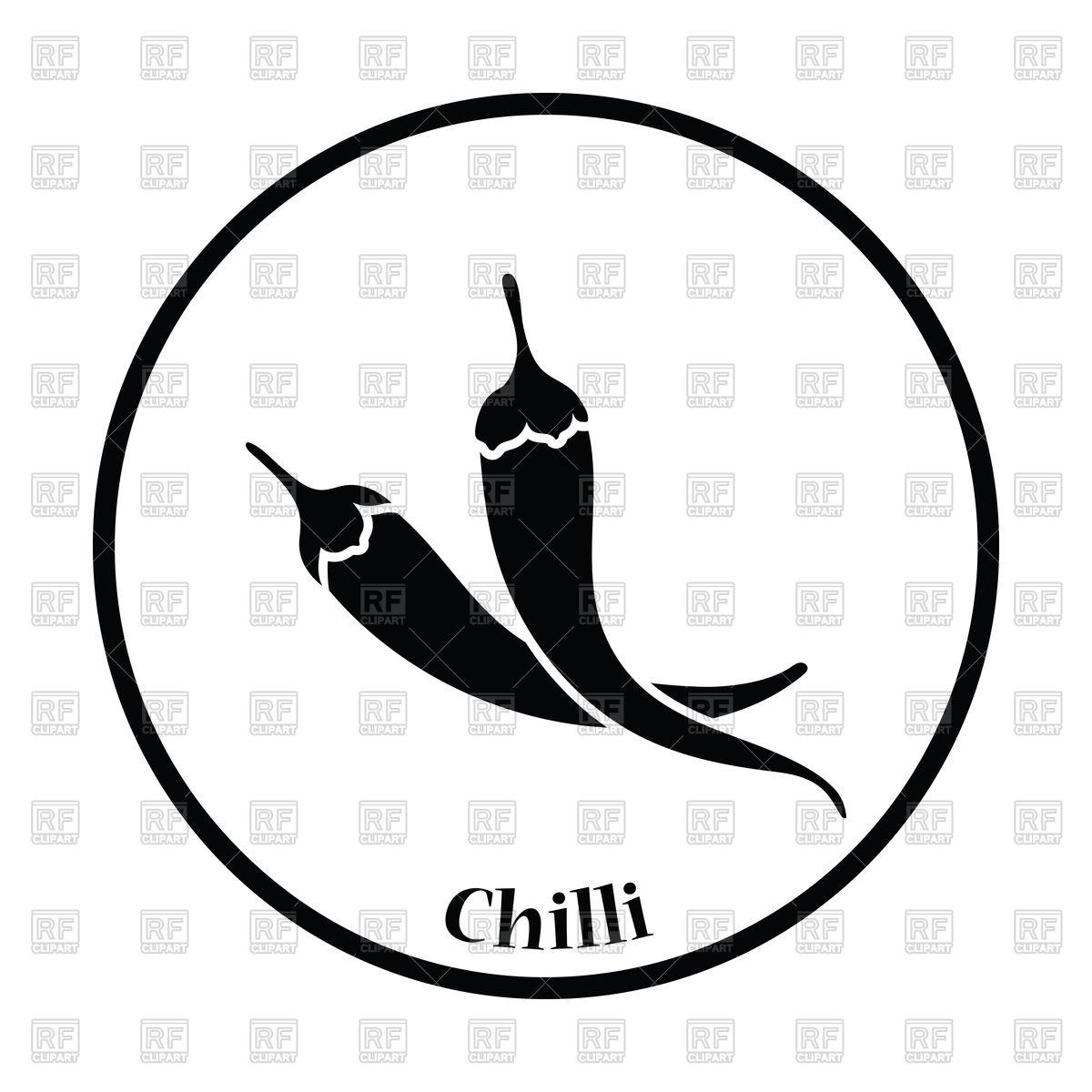 1200x1200 Chili Pepper Icon Vector Image Vector Artwork Of Signs, Symbols