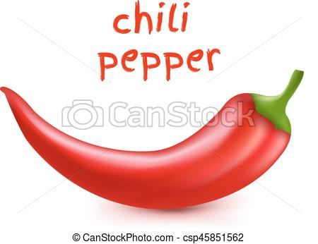 450x346 Chili Pepper With Gradient Mesh, Vector Illustration.