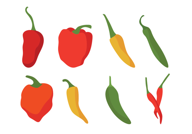 632x443 Different Chili Peppers Vector Set Free Vector Download 439335