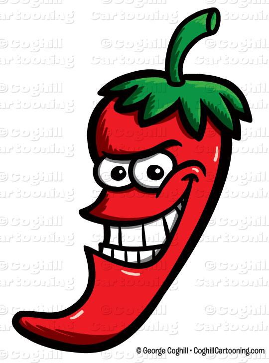 540x729 Cartoon Chili Pepper Clip Art Stock Illustration