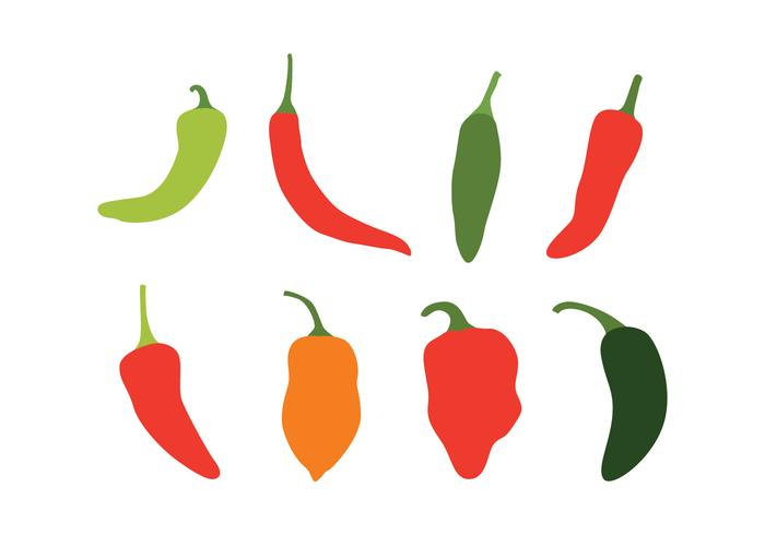 700x490 Chili Peppers Vector Set