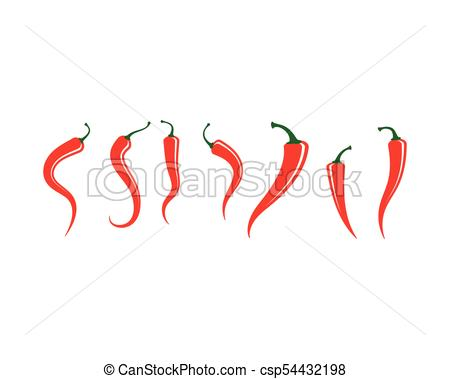 450x379 Red Hot Natural Chili Vector Illustration. Red Hot Natural Chili