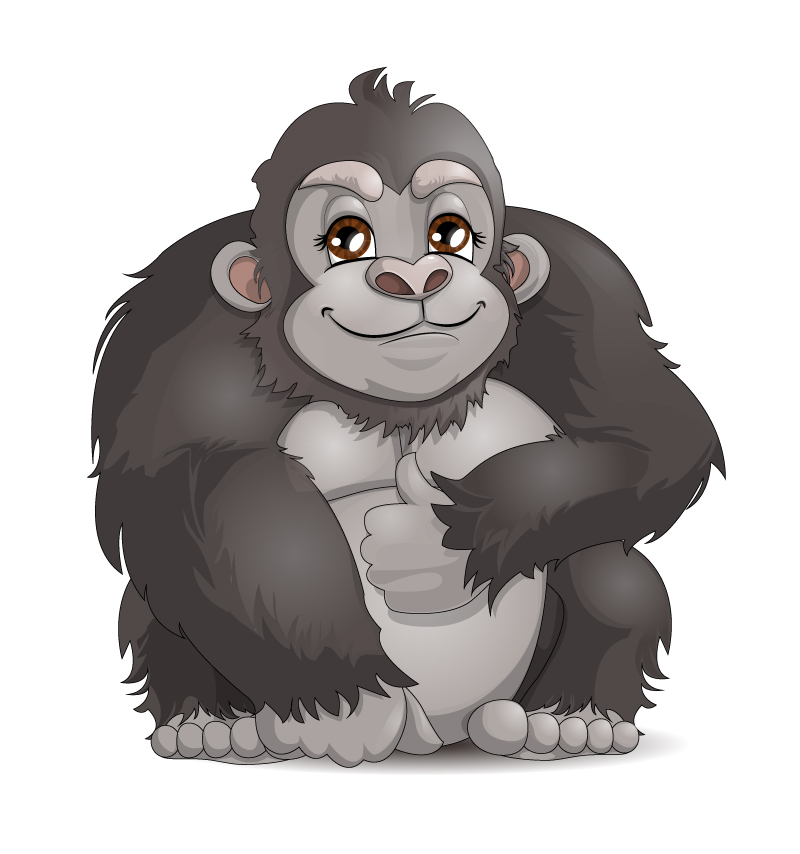 800x854 Cartoon Chimpanzee Vector Free Vector Graphic Download