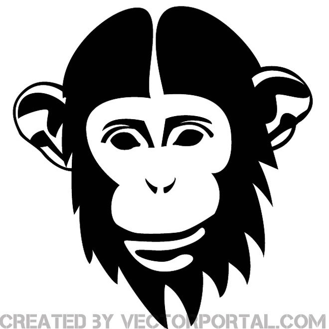 660x660 Chimp Image Free Vector 123freevectors