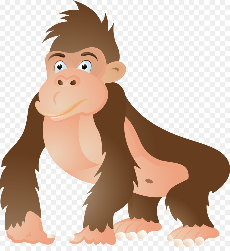 900x980 Gorilla Ape Chimpanzee Cartoon Clip Art