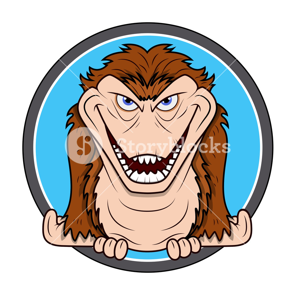 1000x999 Horrible Chimpanzee Vector For Halloween Royalty Free Stock Image