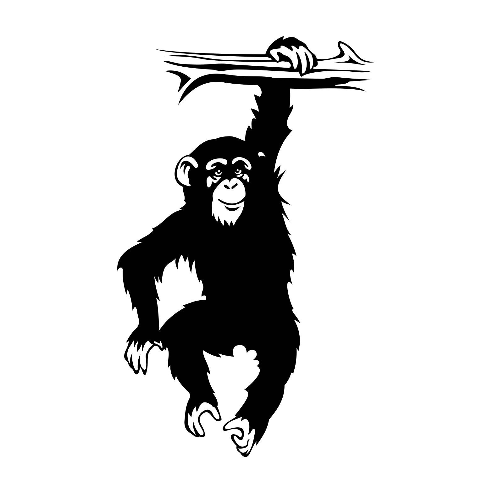 1568x1568 Monkey Chimpanzee Bough Graphics Svg Dxf Eps Png Cdr Ai Pdf Vector