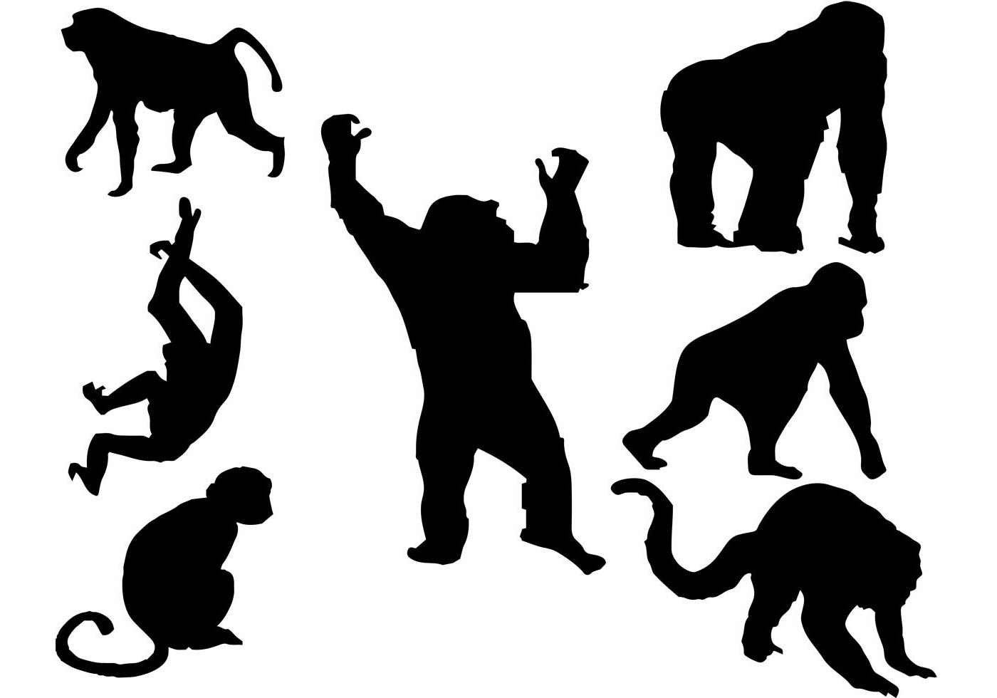 1400x980 Chimpanzee Free Vector Art