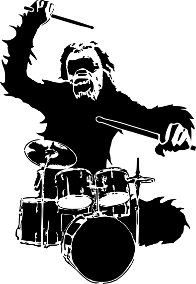 394x570 Chimpanzee Vector 2