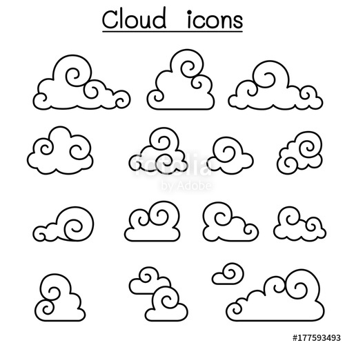 Chinese Cloud Vector