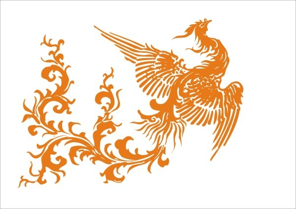 600x424 Phoenix Design Elements Vector Free Vector In Coreldraw Cdr ( .cdr