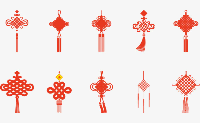 650x400 Red Chinese Knot Vector Elements, Vector, Red, Red Vector Png And