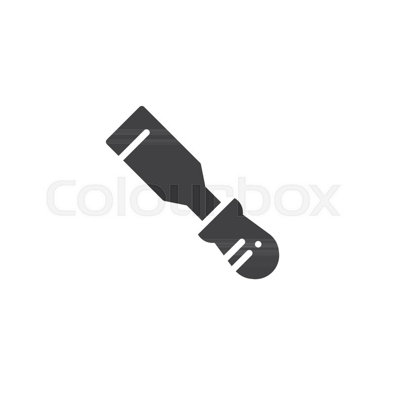 800x800 Chisel Icon Vector, Filled Flat Sign, Solid Pictogram Isolated On