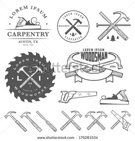 450x470 Chisel. Paper Sticker As Bookmark. Vector Illustration. Eps10