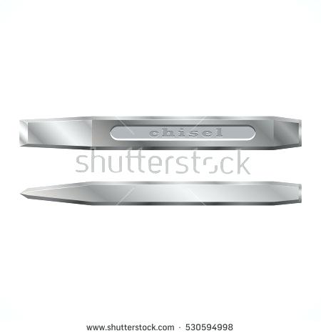 450x470 Metal Chisel Tool Is A On White Background Vector Illustration