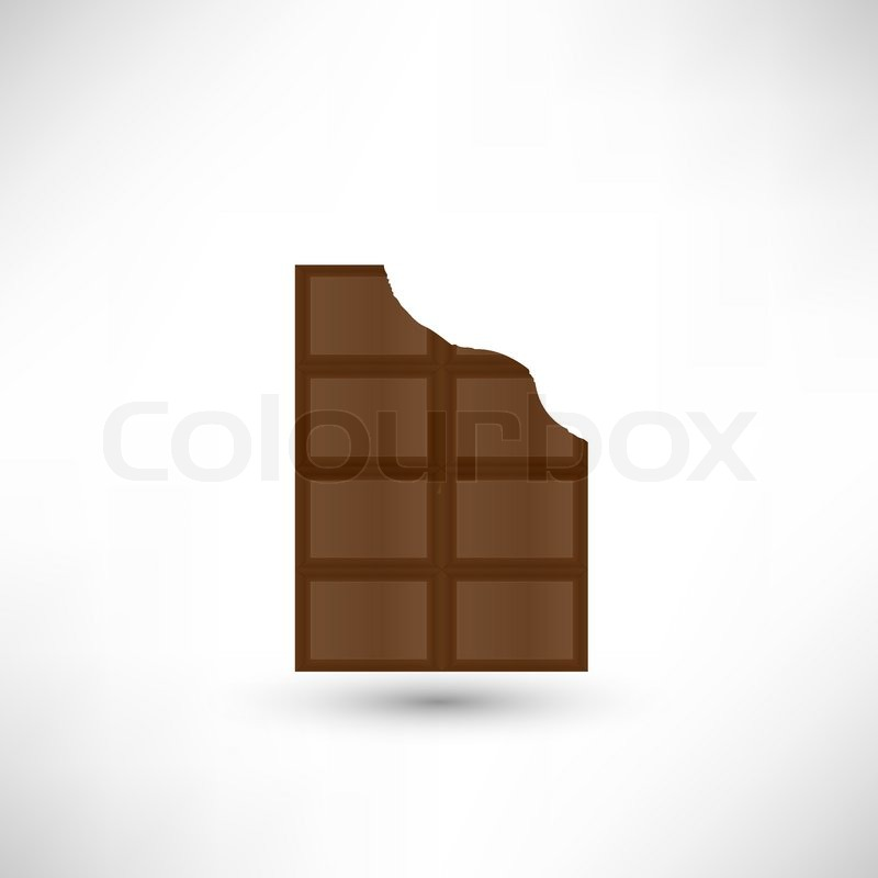 800x800 Bitten Off A Piece Of Delicious Chocolate Bar Stock Vector