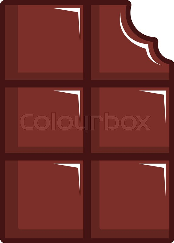 572x800 Chocolate Bar Icon. Cartoon Illustration Of Chocolate Bar Vector