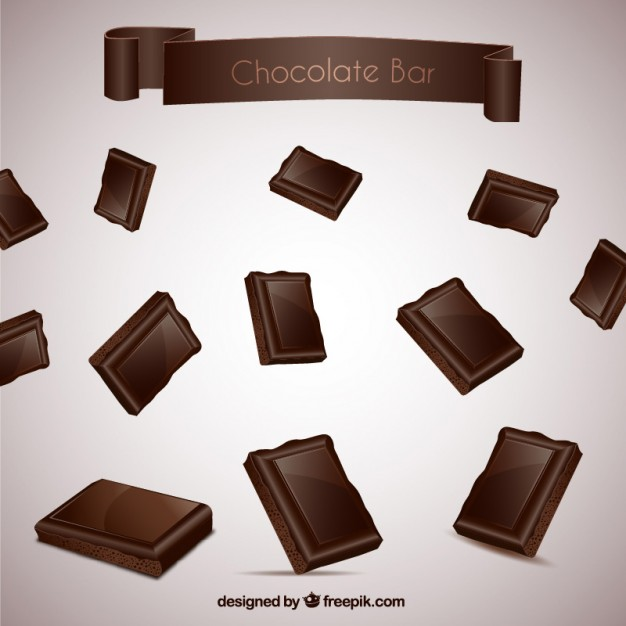 626x626 Dark Chocolate Bar Vector Free Download