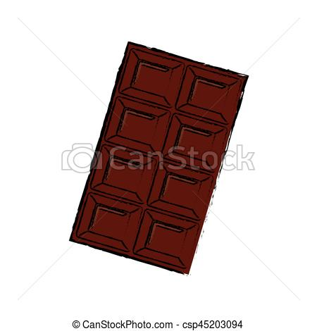 450x470 Delicious Chocolate Bar Icon Vector Illustration Graphic Design.