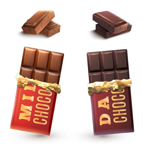 500x506 Delicious Chocolate Bar Vector Design 07 Free Download