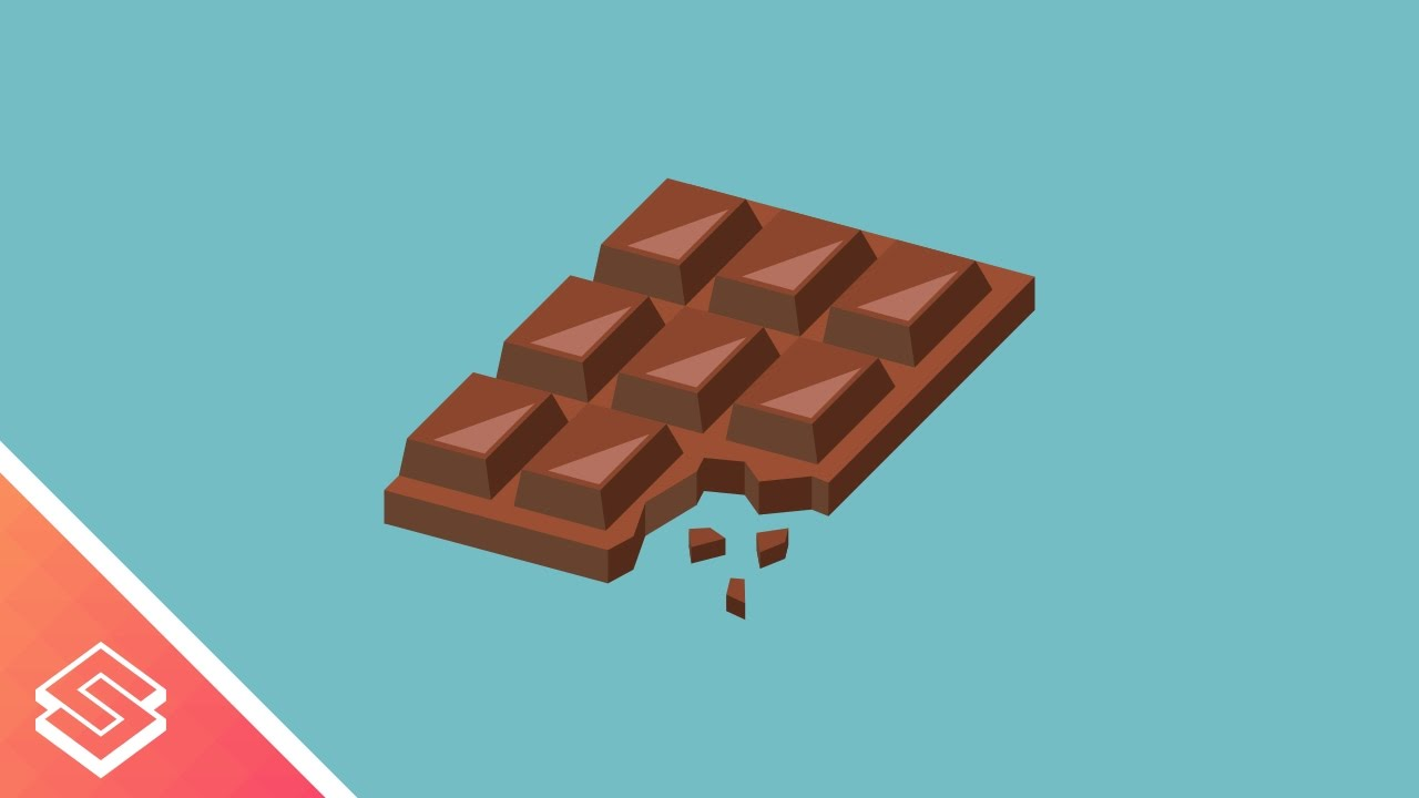 1280x720 Inkscape Tutorial Vector Chocolate Bar