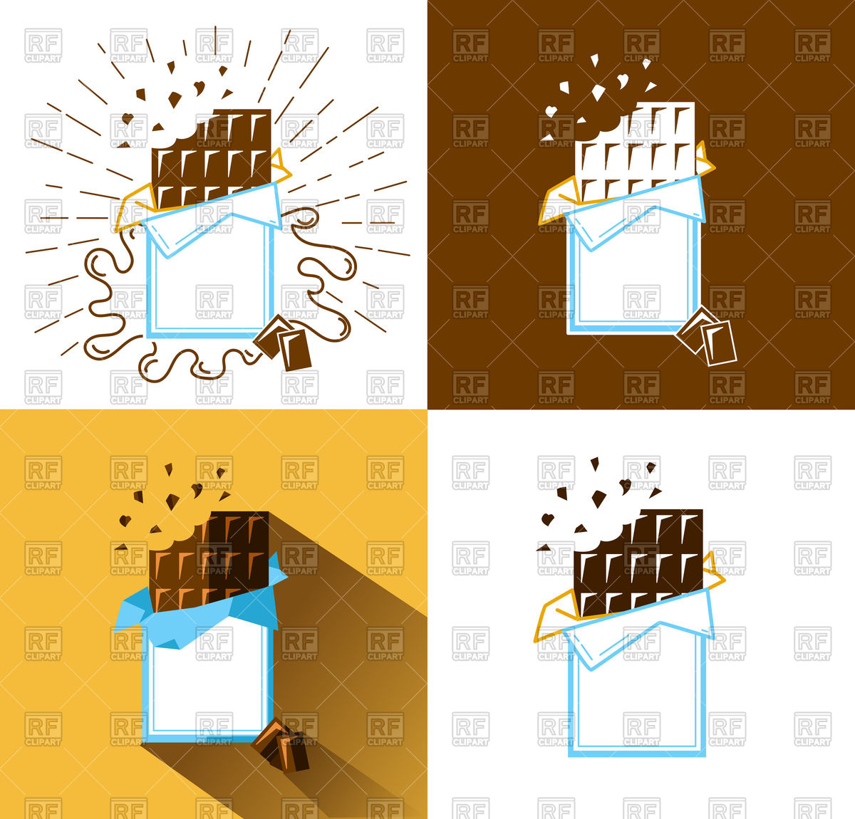 1200x1150 Set Of Bitten Chocolate Bar Icons Vector Image Vector Artwork Of