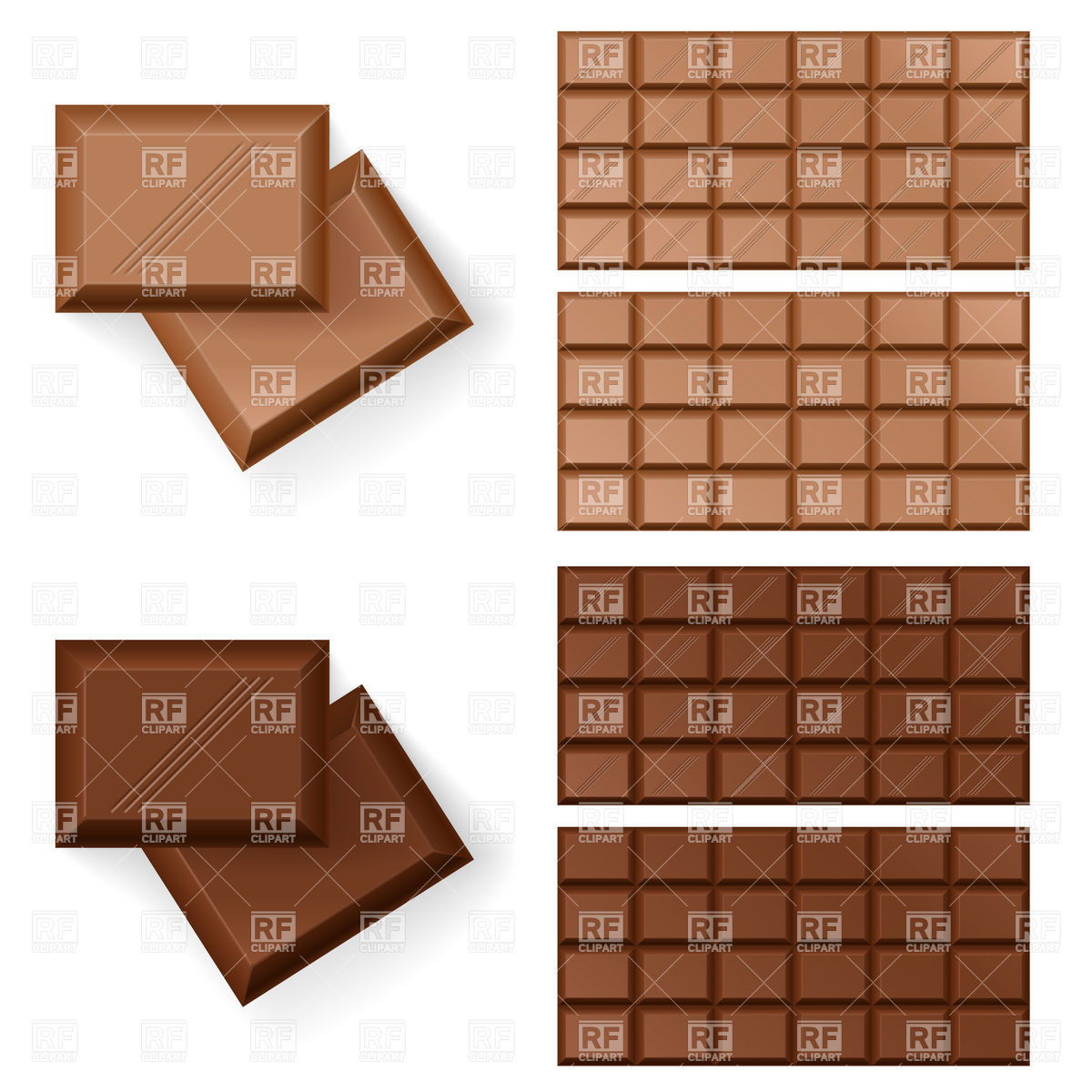 1200x1200 Set Of Chocolate Bars Vector Image Vector Artwork Of Food And