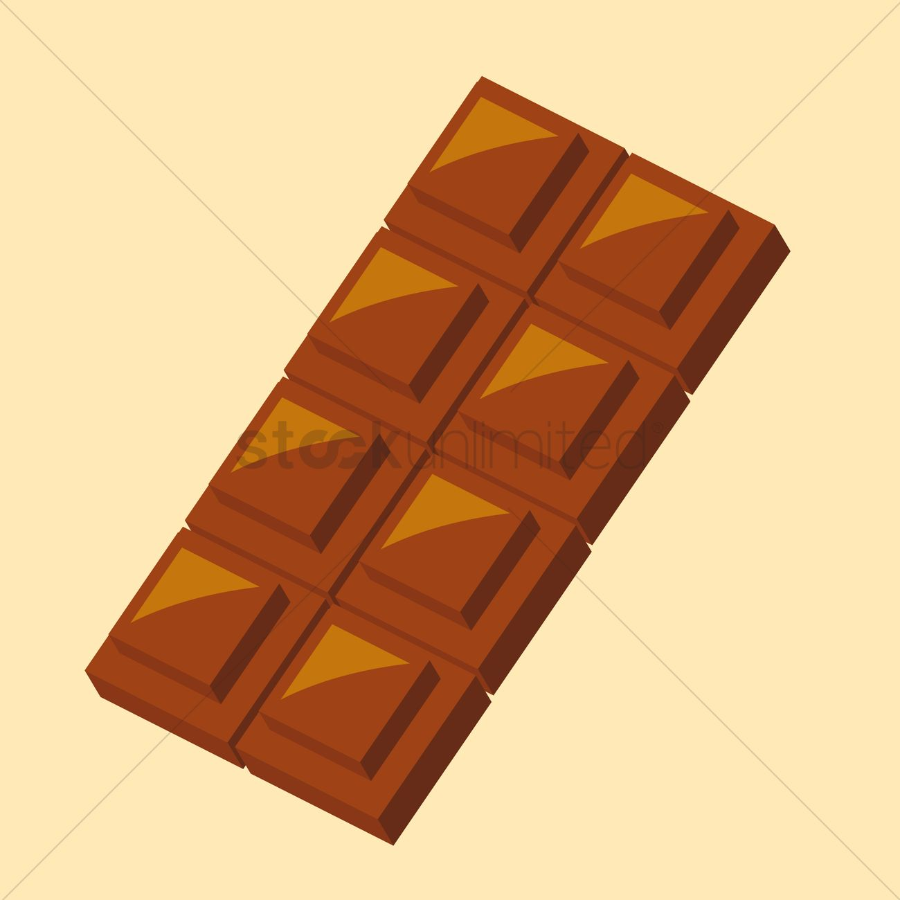 1300x1300 Chocolate Bar Vector Image