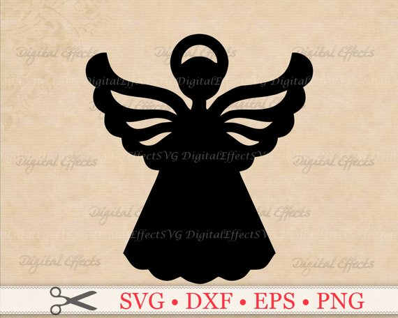 570x456 Angel Svg File Christmas Angel Svg Png Eps Dxf Files Etsy