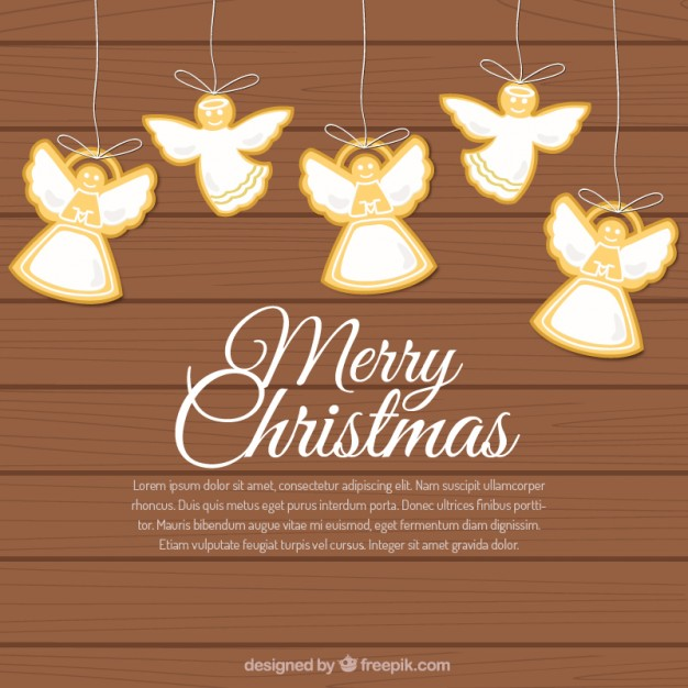 626x626 Hanging Christmas Angels Background Vector Free Download