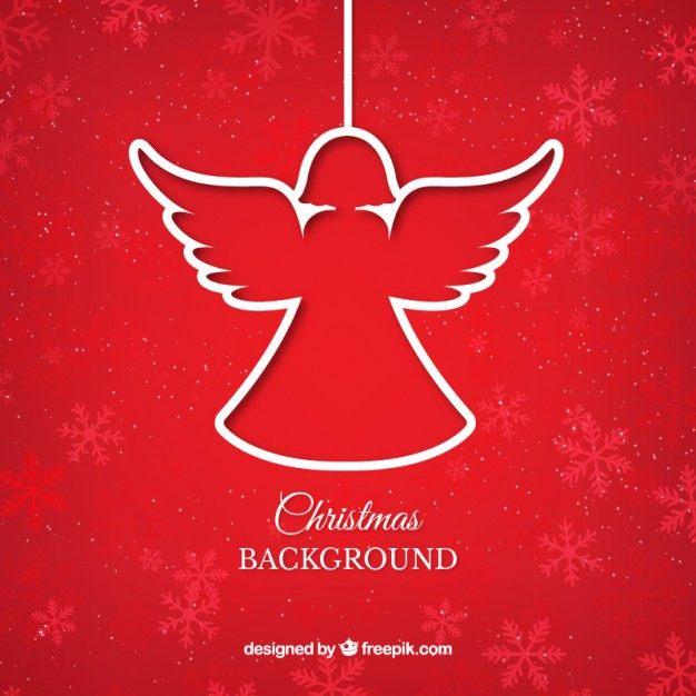 626x626 Red Christmas Angel Background Vector Free Download