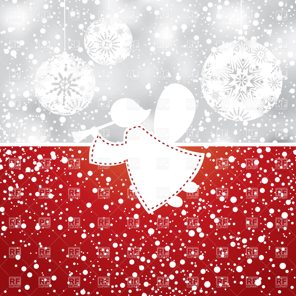 1199x1200 Abstract Christmas Background With Angel Vector Image Vector