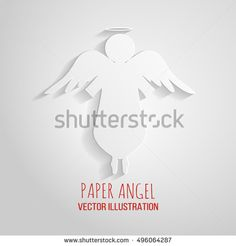 236x246 Angel Icon. Paper Angel On A White Background. Paper Christmas