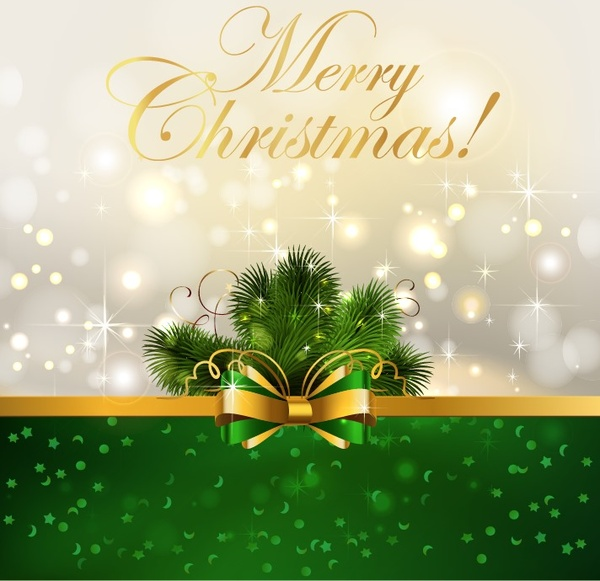 600x581 Christmas Background With Bow Vector Illustration Free Vector In