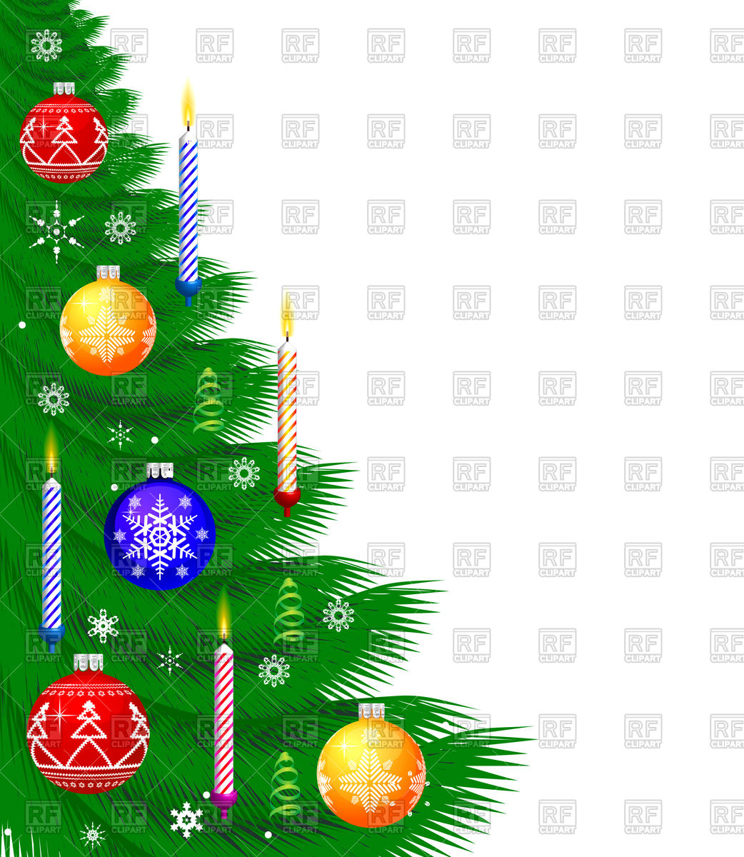 1042x1200 Christmas Background With Decorated Tree Vector Image Vector
