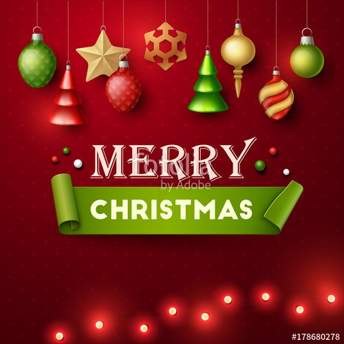500x500 Christmas Background. Vector Illustration. Stock Image And