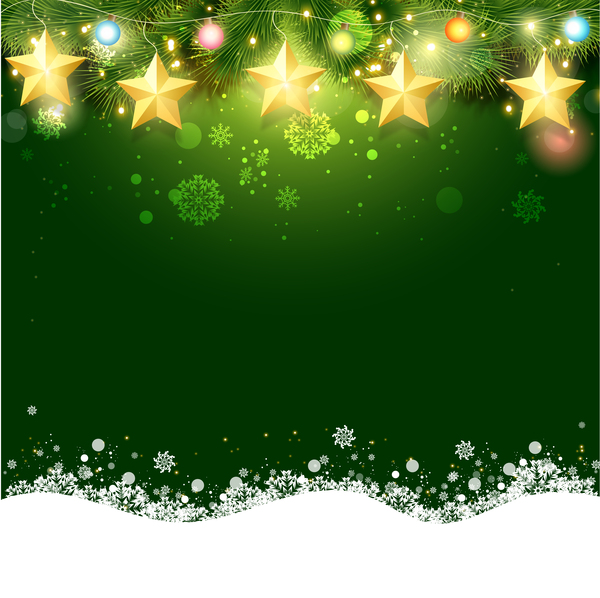 600x598 Green Christmas Background Design Vector 01 Free Download