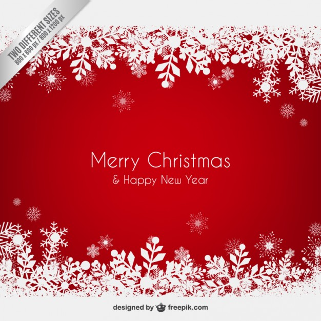 626x626 Red Christmas Background With Snowflakes Vector Free Download
