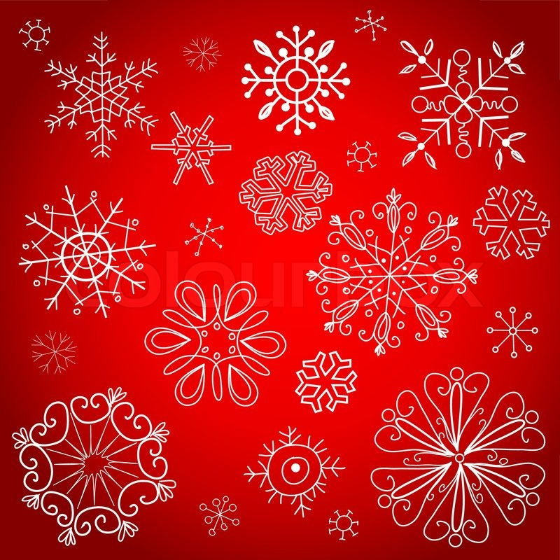 800x800 Red Christmas Background, Vector Illustration Stock Vector