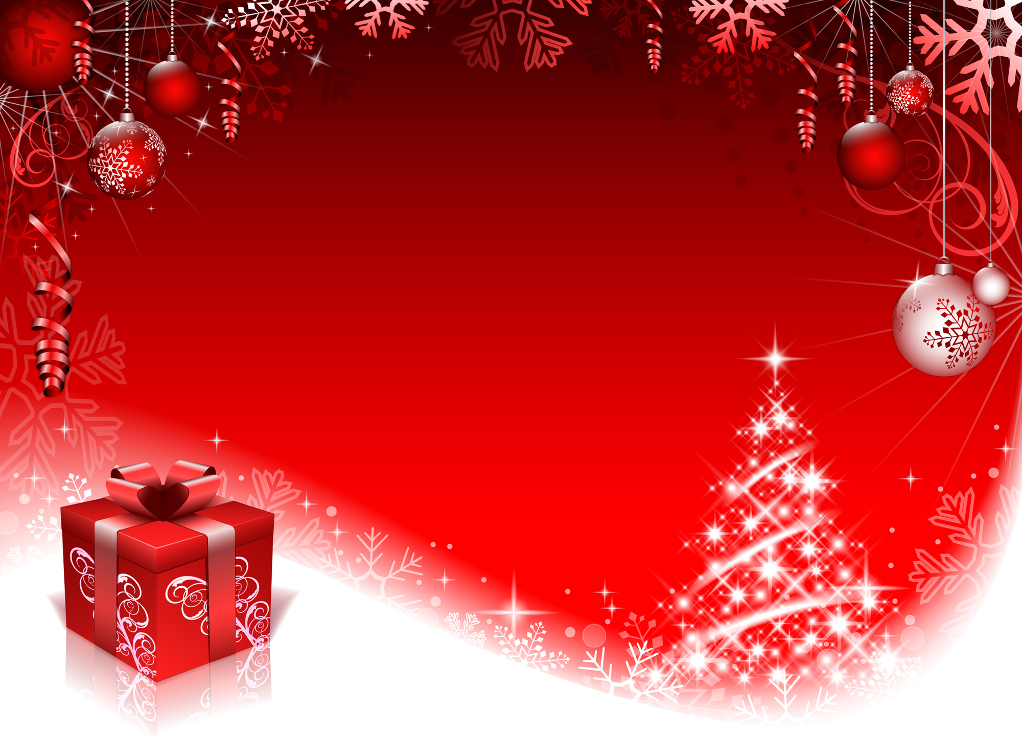 2000x1440 Red Style Christmas Background Art Vector 01 Free Download
