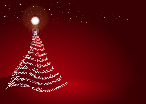 500x357 Red Style Christmas Background Art Vector 03 Free Download