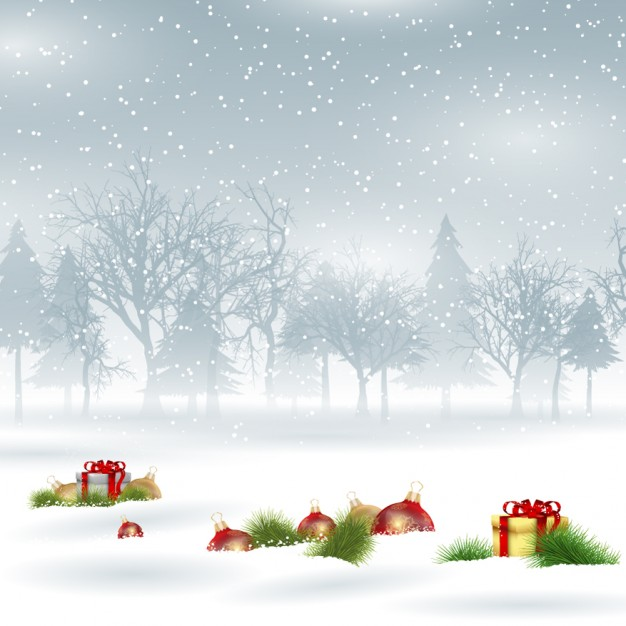 626x626 Snowy Christmas Background Vector Free Download