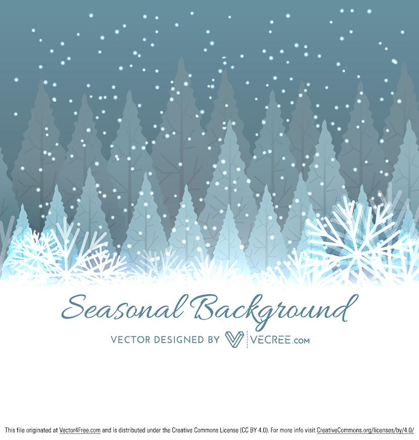 829x869 Winter Tree Christmas Background
