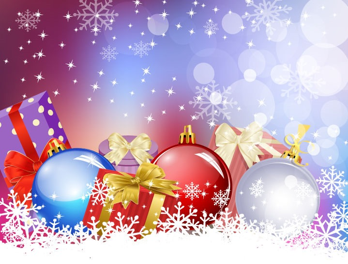719x544 Christmas Background Vector Art Graphic Free Vector Graphics